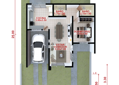 Vivienda a69 de 1 dormitorio