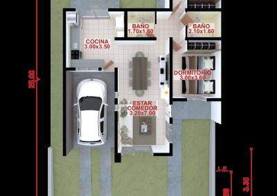 Vivienda a83 de 2 dormitorios