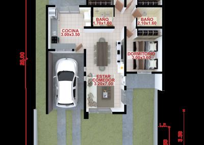 Vivienda a97 de 3 dormitorios