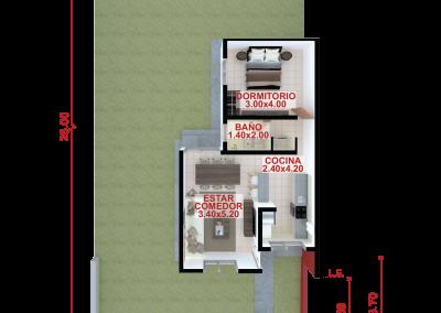 Vivienda b58 de 1 dormitorio
