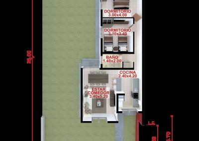 Vivienda b73 de 2 dormitorios
