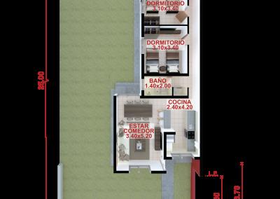 Vivienda b88 de 3 dormitorios