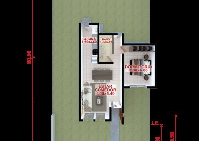 Vivienda c55 de 1 dormitorio