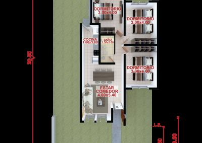 Vivienda c79 de 3 dormitorios
