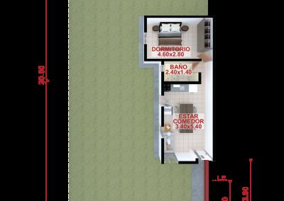 Vivienda d45 de 1 dormitorio