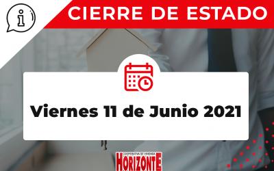 CIERRE DE ESTADO – DÍA 11/06/2021